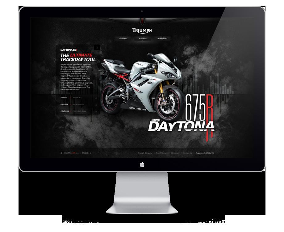 Daytona 675R Minisite Concept