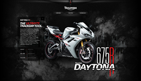 Daytona 675R Minisite Concept