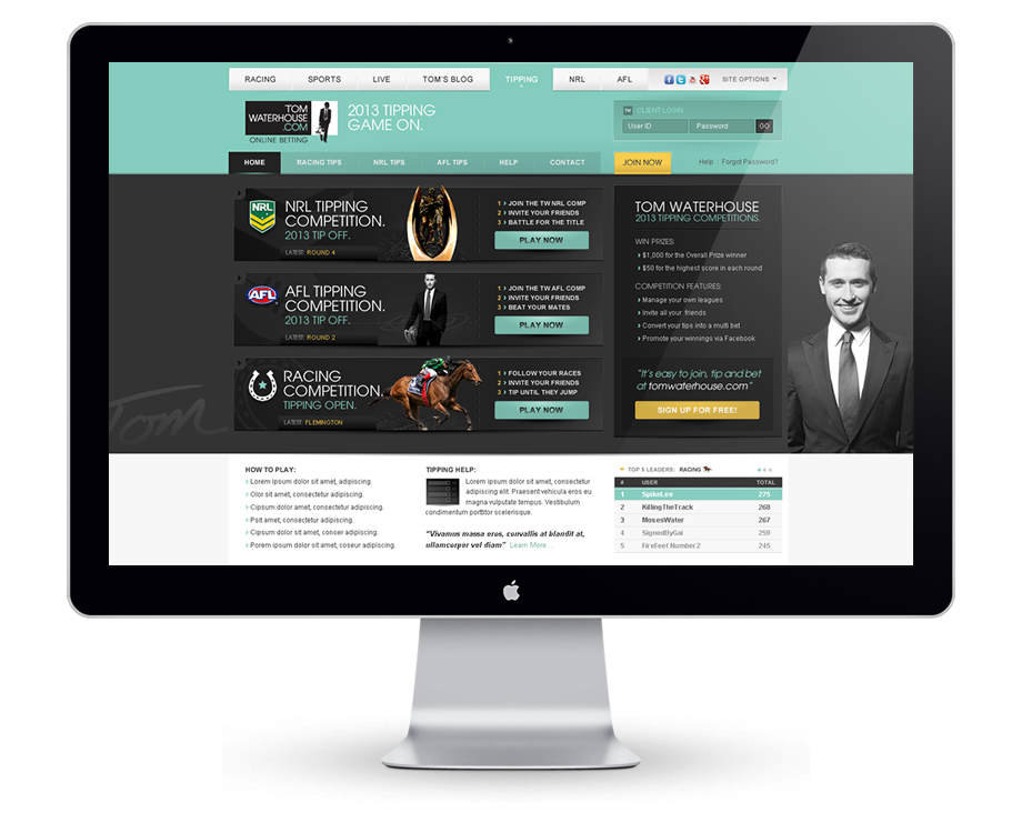 Tipping Portal – Tomwaterhouse.com