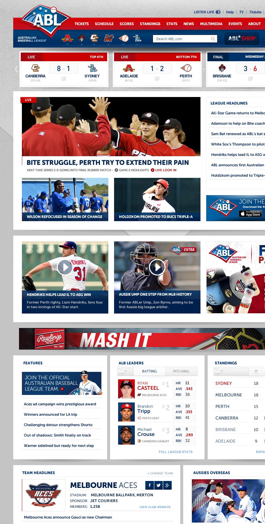 Australian Baseball League Refresh