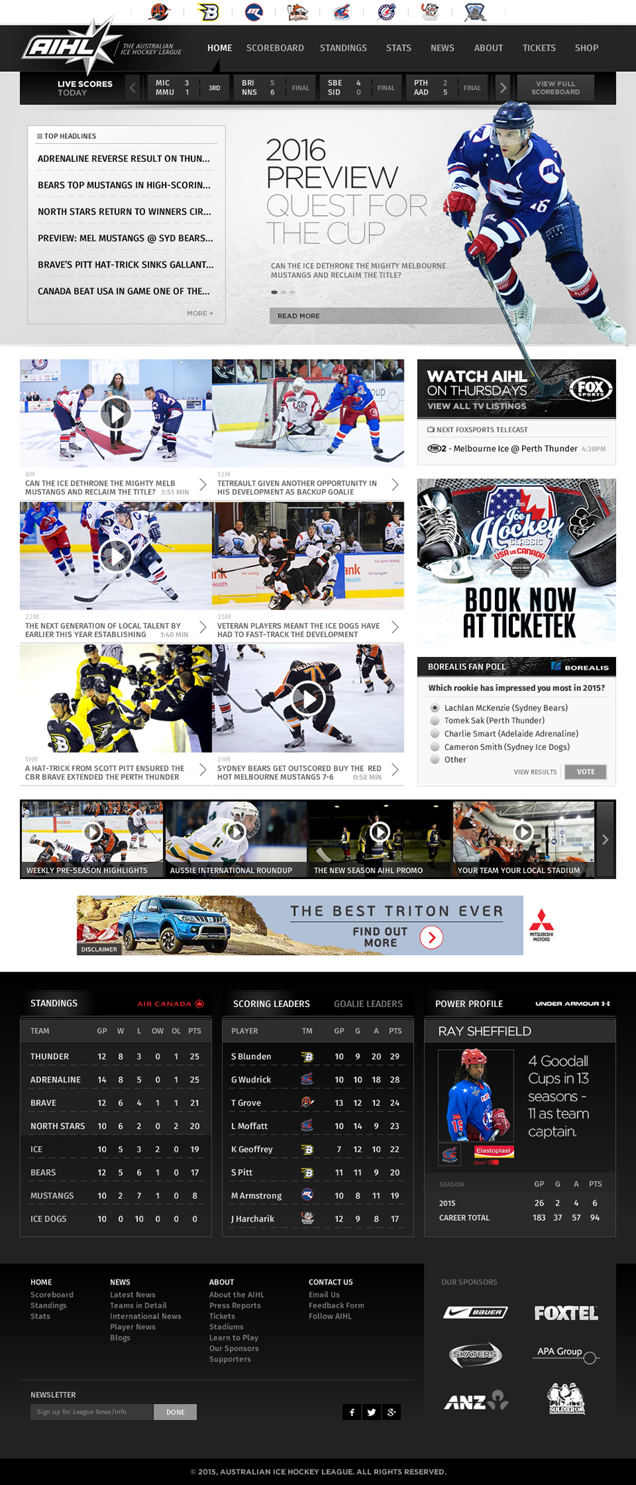 AIHL Site Refresh