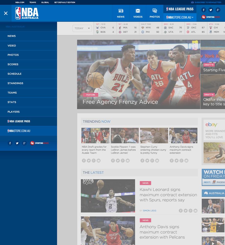 NBA Australia Redesign